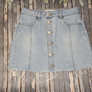 PacSun Raw Hem Denim Skirt - Sz 26